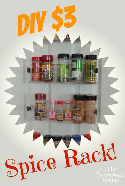DIY $3 Spice Rack