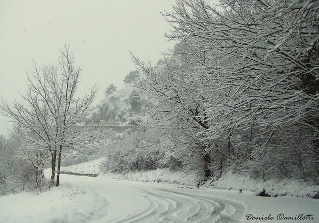 Neve Sulla Civita (Snow In Castel Di Sangro, Italy)