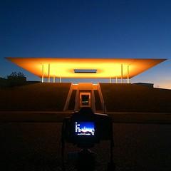 Sunrise light show at James Turrell Skyspace