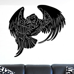 Flying Eagle Bird of Prey Wall Sticker