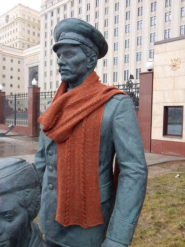 шарф зеркальный на памятнике2