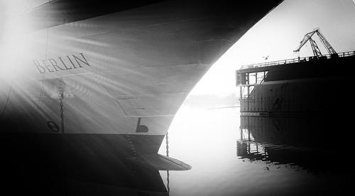 Shipyard early morning