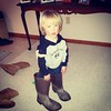 Wearing Uncle Matt's boots