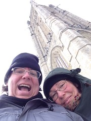 Walkabout: @halyma and I on Parliament Hill.