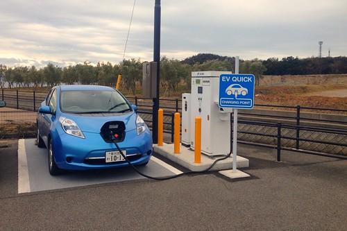 池田港 電気自動車用急速充電器