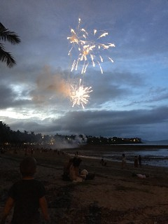 Chinese New Year fireworks at Airlie Beach