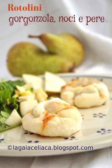 Rotolini gorgonzola pere e noci gluten free