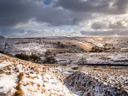 musbury valley helmshore haslingden rossendale lancashire northwest england britain uk landscape snow winter moor moorland bleak mood moody panasonic lumix 14mm prime lens olympus epm2 olympusepm2