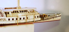 Starboard view showing lowered guard fenders - J. Tremper steamboat