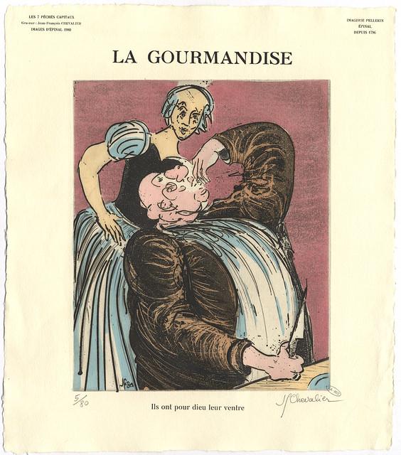 La Gourmandise - Imagerie Pellerin d'Epinal par J.F. Chevalier 1980