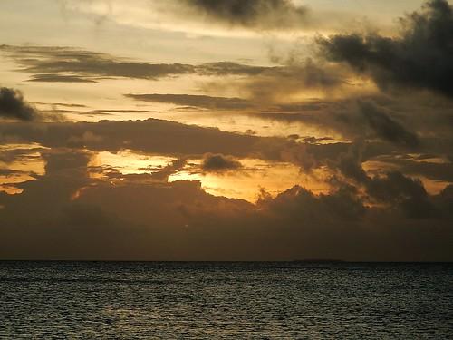 funafuti tuvalu sunset sky dramatic stormy horizon