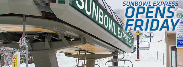 Sun bowl Express Opens At Sunapee
