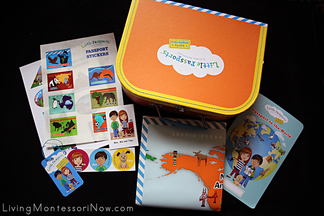 Contents of Little Passports Early Explorers Traveler Kit