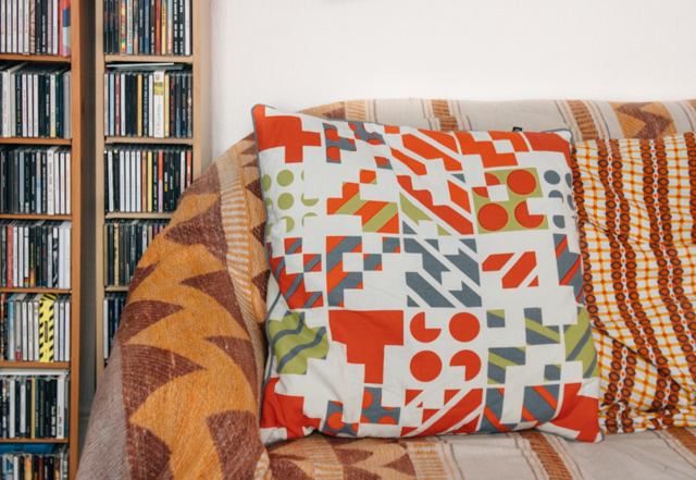 cushion from habitat on sofa