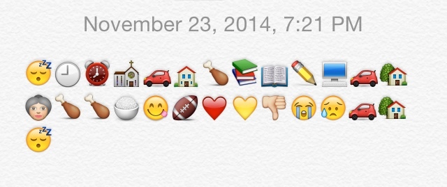 My day in emojis