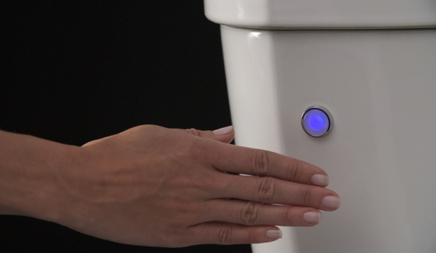 Delta Faucet's toilets with FlushIQ Technology are integrated with sensors