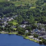 Pentra Llanberis a llyn Padarn-Llanberis village&Padarn lake.