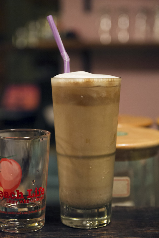 Iced peanut butter latte