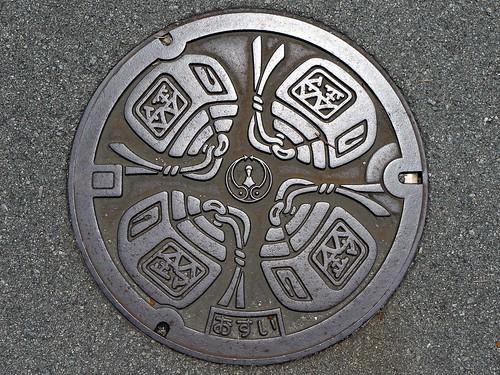 Matsusaka Mie, manhole cover (三重県松阪市のマンホール)