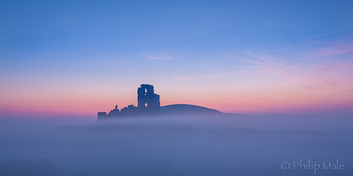 sunrise dorset corfecastle