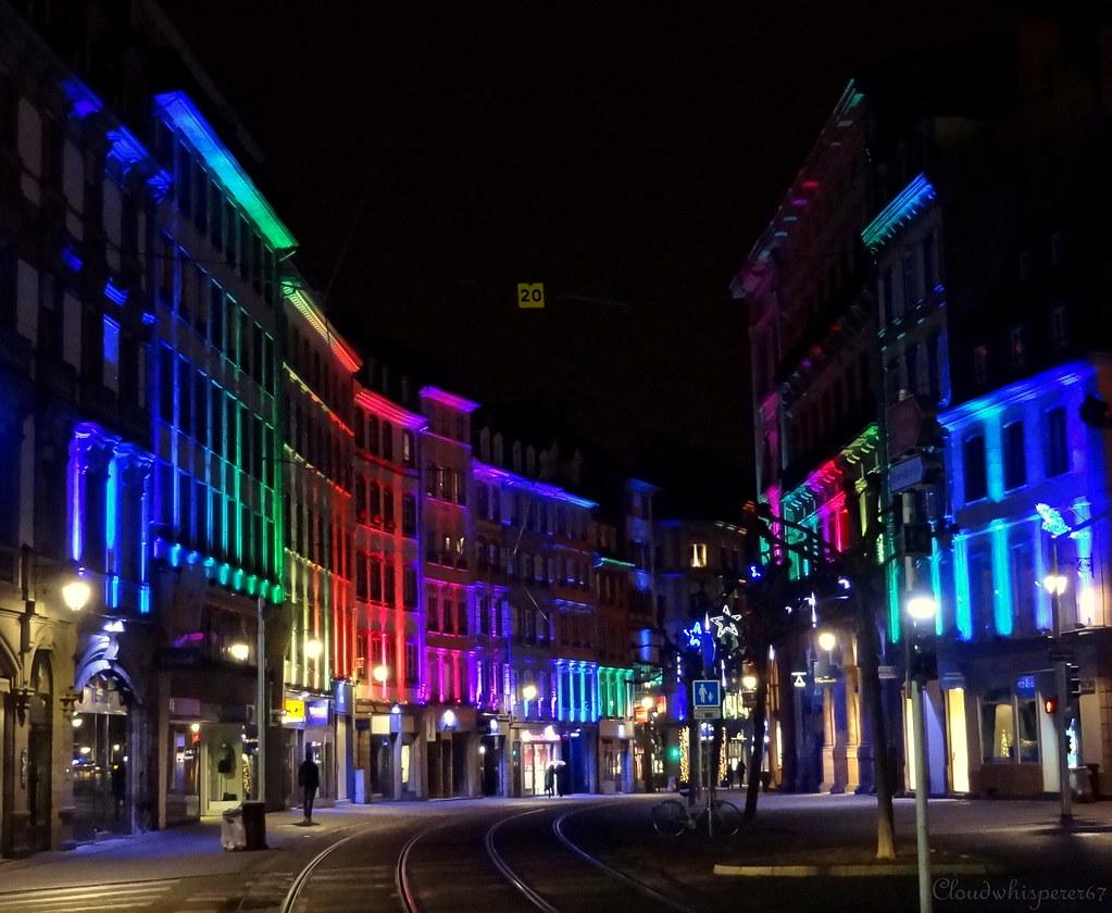 Rainbow Street - Strasbourg by night Xmas 2014