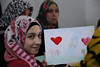 """I discovered a new talent within me; I can actually draw very well!"" said 14-year-old Dana who attnds school in Ramtha, in the north of Jordan.    ""But I will keep it as a hobby because I want to become a doctor in the future, so that I could treat patients and help injured people,"" she added. Photo: Rebecca Arnold/IRC"