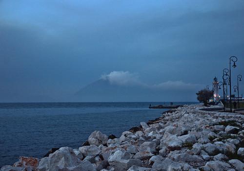 blue sea sky lighthouse clouds rocks greece patra μπλε θαλασσα ελλαδα πατρα συννεφα βραχια φαροσ προβλητα
