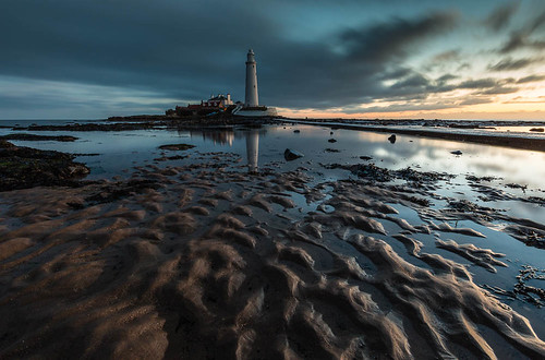lighthouse seascape sunrise landscape northumberland whitleybay stmaryslighthouse northeastengland bluescape wexmondays2015 apoy2015 wpoty2015
