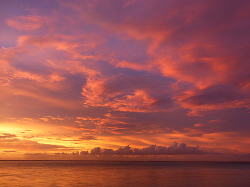 ocean clouds sunrise pacific south tahiti borabora frenchpolynesia