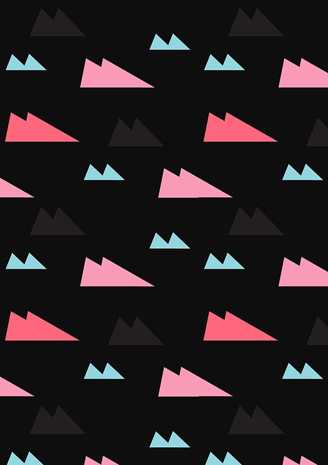 over the hill pattern (dark) by laura redburn