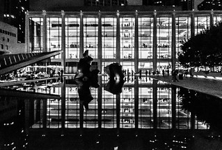 Image of Lincoln Center for the Performing Arts. nyc blackandwhite music newyork art architecture night opera manhattan lincolncenter iphone5