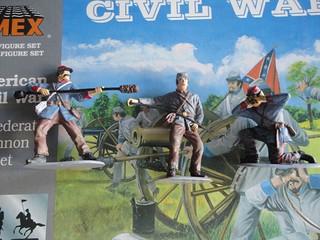 IMEX 1:32/54mm Confederate Cannon Set ref 781 16115716250_72745a7f32_n