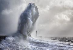 Porthcawl Lighthouse Giant Wave