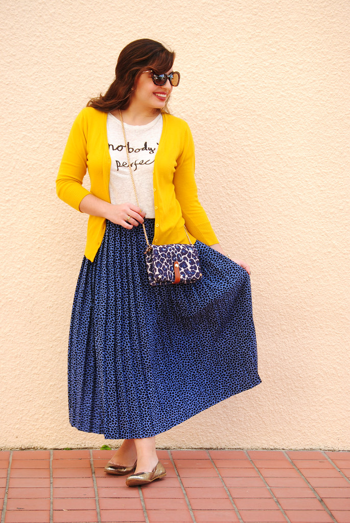 Modcloth Charter School Cardigan and vintage skirt