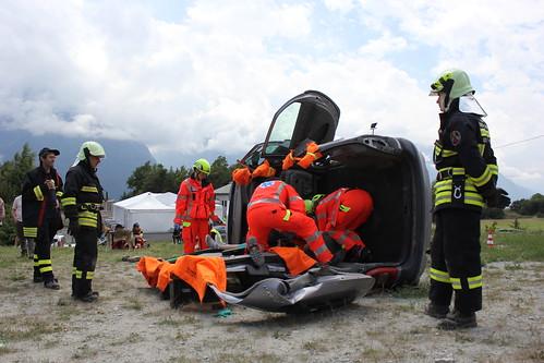 Vigili del fuoco e volontari Anpas Esercitazione Emergency Rapy 2014