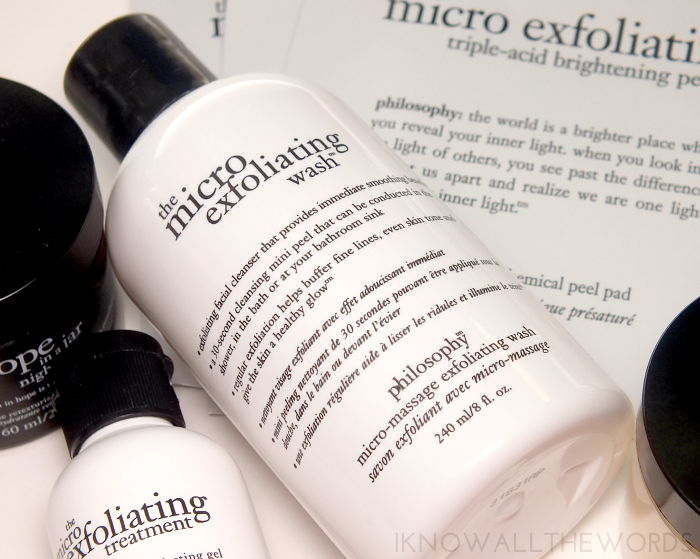 philosophy micro exfoliating wash