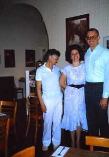 Florida   -   St. Augustine   -   DeNoel's   -   Christine, Guy & John   -   John is back in the States TDY   -   November 1986