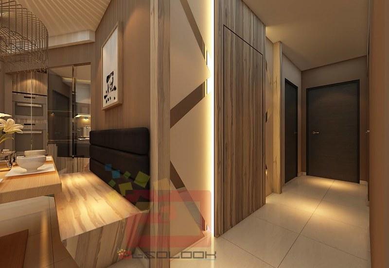 Hdb bto 4 room natural wood design blk 528b costa ris for Hdb household shelter design