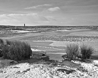 The reservoir near Sike Head chimney above Blanchland in Weardale on Saturday