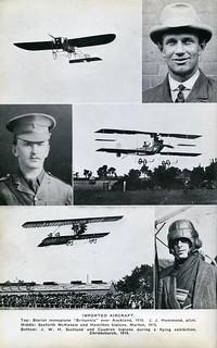 JWH Scotland and his Caudron bi-plane in 1914