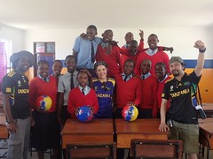 donating soccer balls to mungere secondary school