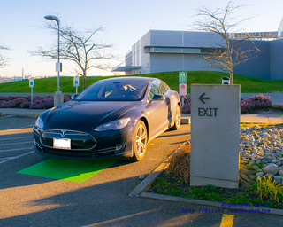 01 - A Tesla Model S Parked at the Future of Flight Chargepoint EV Charging Station