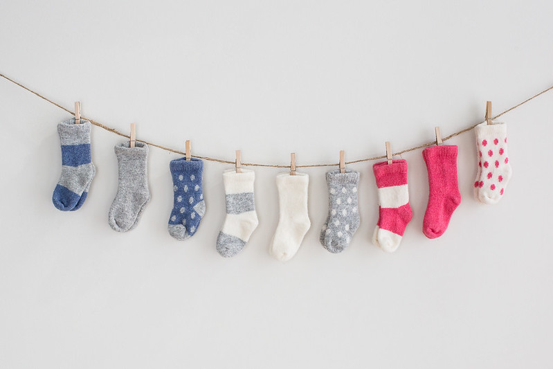 White+Warren baby cashmere socks