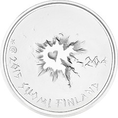 Finland coin on Sisu obverse