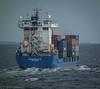Containership Margareta B in Öresund