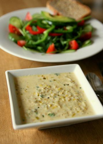 Leek, yogurt and mint soup by Monica