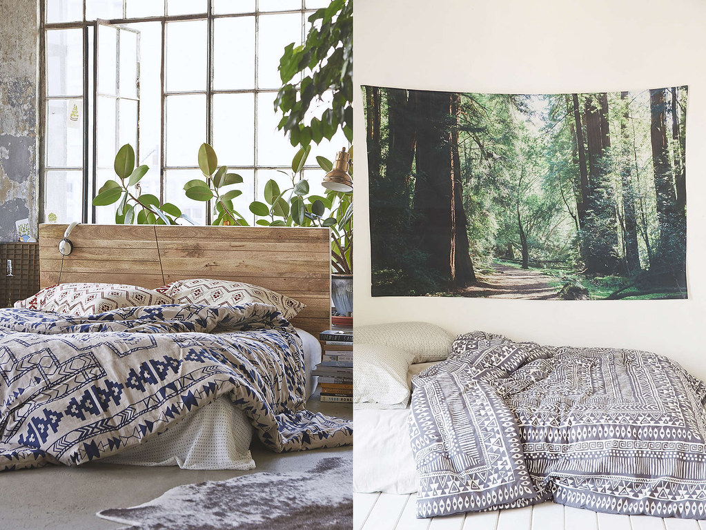 bedding and nature wall tapestry from urban outfitters