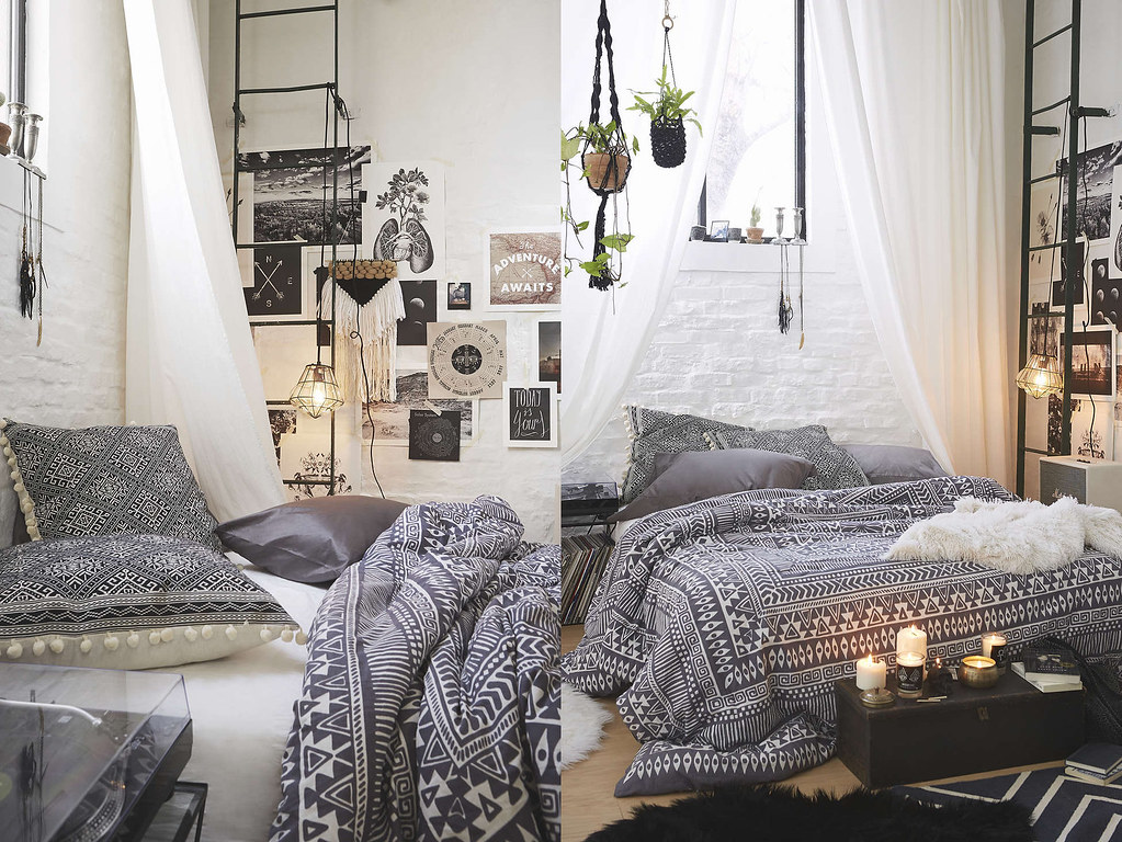 Romantic master bedroom design ideas - Boho With A Touch Of Industrial Lfb
