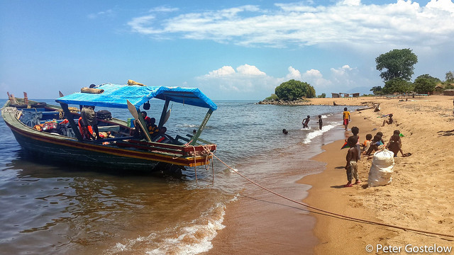 Mozambican beach on Lake Niassa