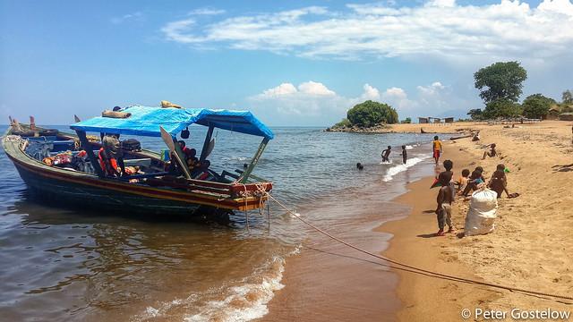 Mozambican beach on Lake Niassa